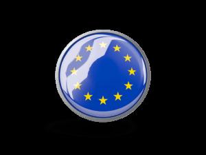 flaga unii europejskiej w formie guzika